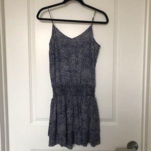 DEREK LAM 10 CROSBY Blue Pebble Print Cami Dress